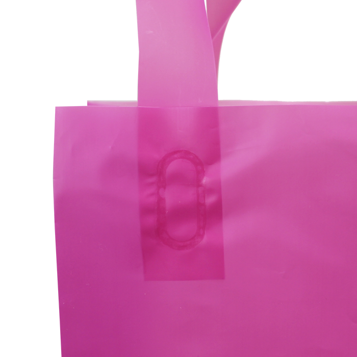 Small Frosted Plastic Shopper