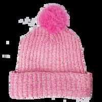 Pink Knit Pom Beanie Thumb