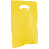 Yellow Small Recyclable Die Cut Plastic Bag Thumb