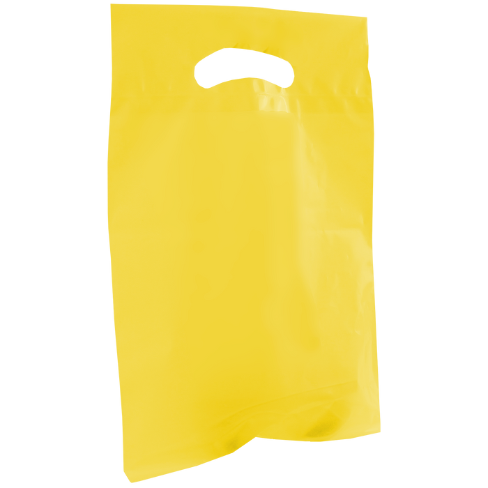 Yellow Small Recyclable Die Cut Plastic Bag