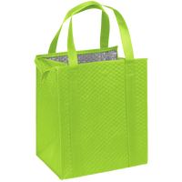 Lime Green Large Insulated Cooler Tote Thumb
