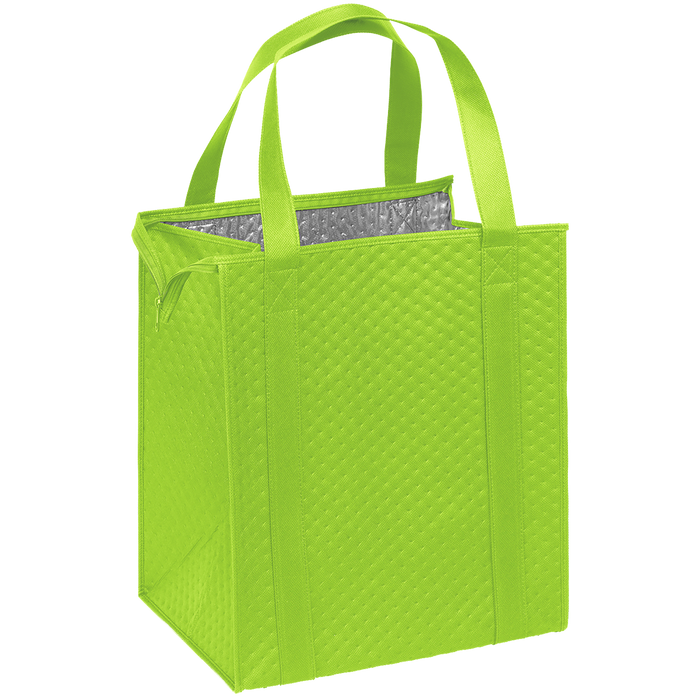 Lime Green Large Insulated Cooler Tote