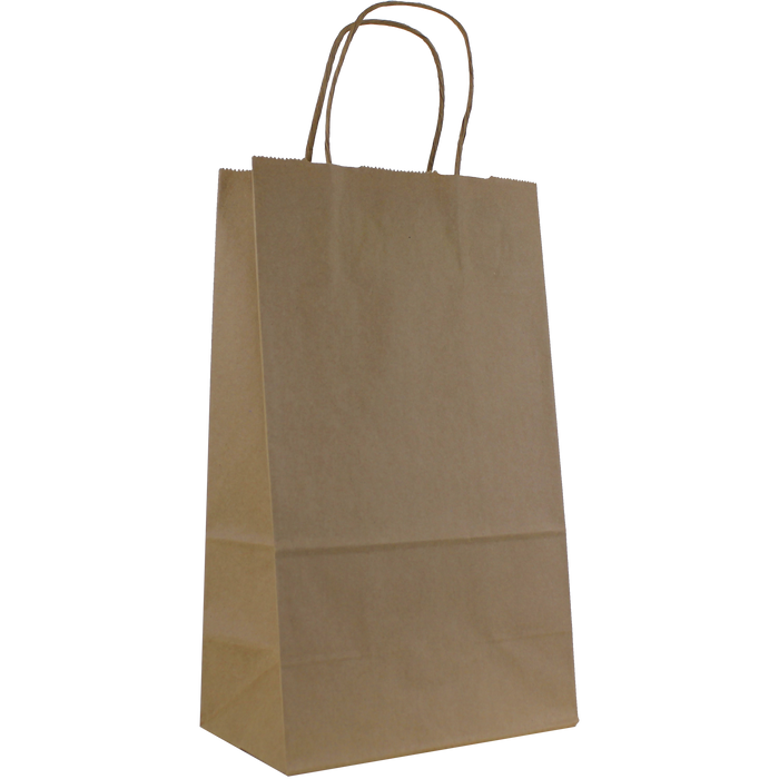 Natural Paper Kraft Paper 2 Bottle Tote