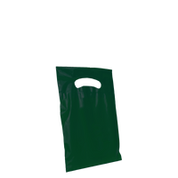 Hunter Green Extra Small Eco-friendly Die Cut Plastic bag Thumb