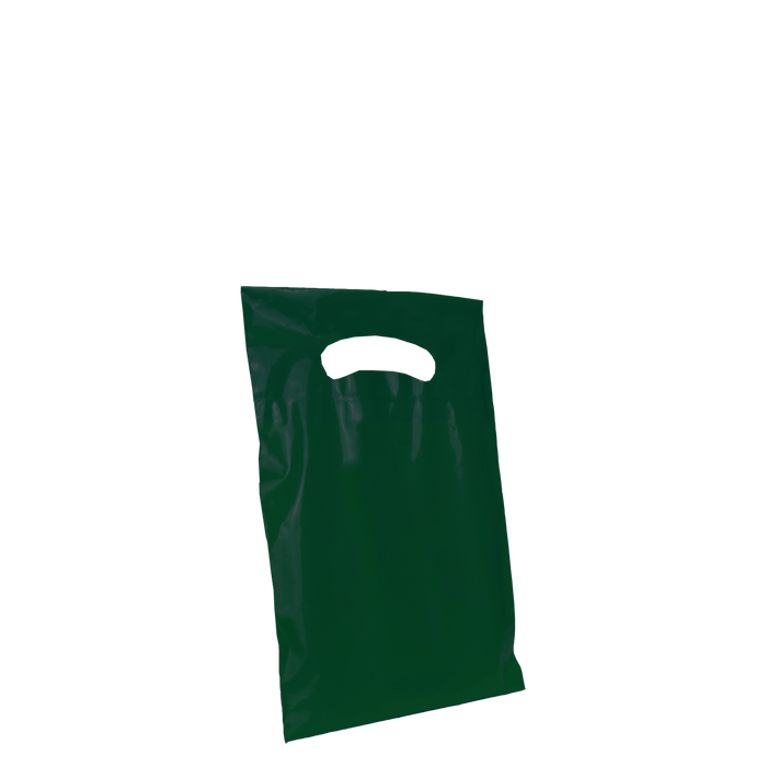Hunter Green Extra Small Eco-friendly Die Cut Plastic bag