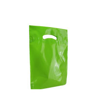 Lime Small Eco-Friendly Die Cut Plastic Bag Thumb