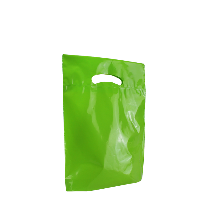 Lime Small Eco-Friendly Die Cut Plastic Bag