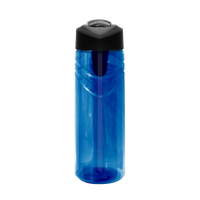 Blue Sport Water Bottle with Flip Up Straw Thumb