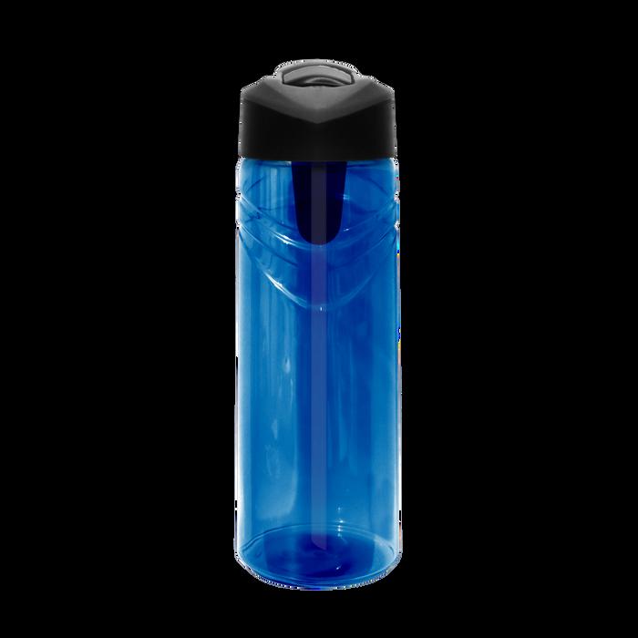 Blue Sport Water Bottle with Flip Up Straw