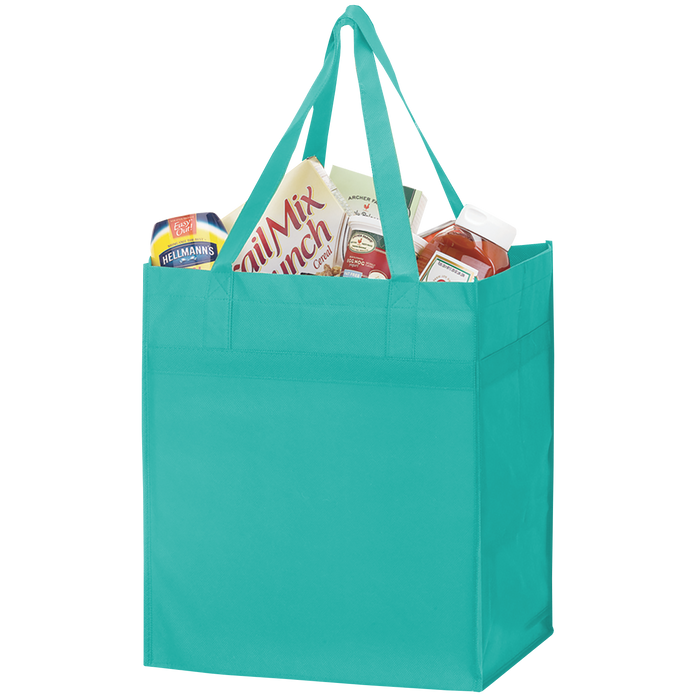 Teal Big Tex Grocery Bag