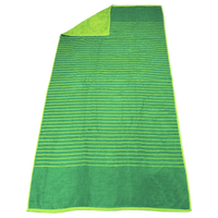 Lime Green Bayside Reversible Stripe Beach Towel Thumb