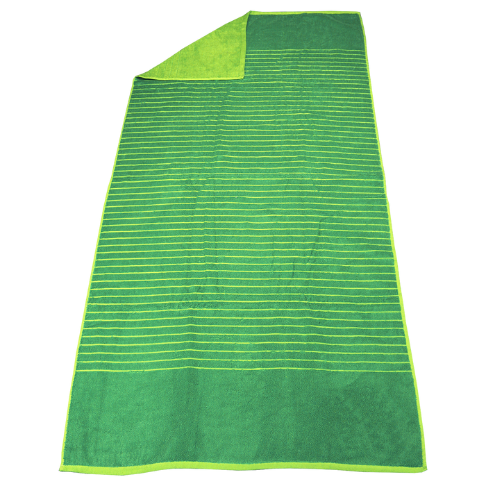 Lime Green Bayside Reversible Stripe Beach Towel