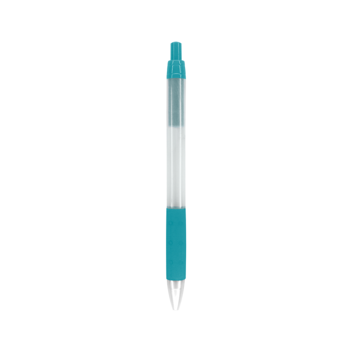 Teal Green with Black Ink Frosted Barrel Pen