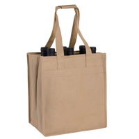 Light Khaki 6 Bottle Wine Tote Thumb