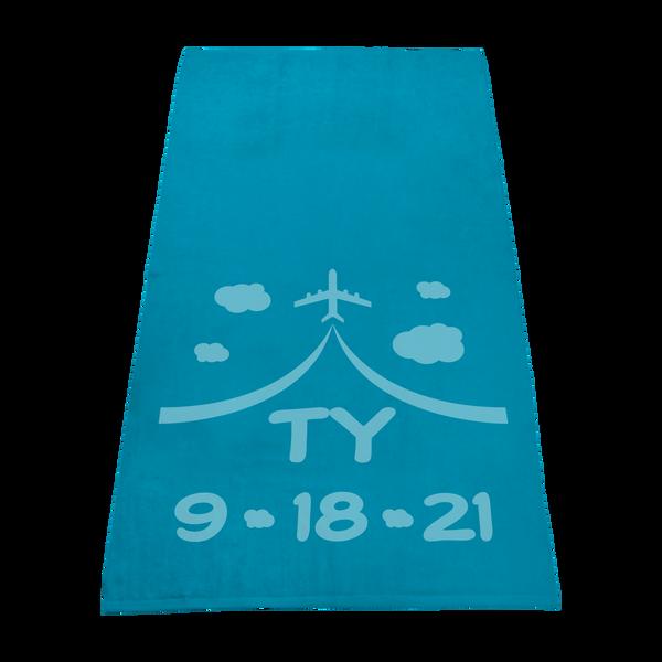 best selling towels,  color beach towels,  silkscreen imprint,