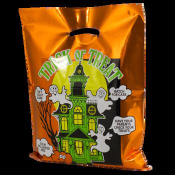 Metallic Orange Haunted House Bag