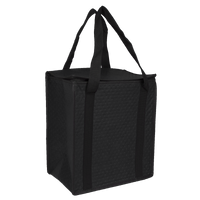 Black Square Top Insulated Tote Thumb