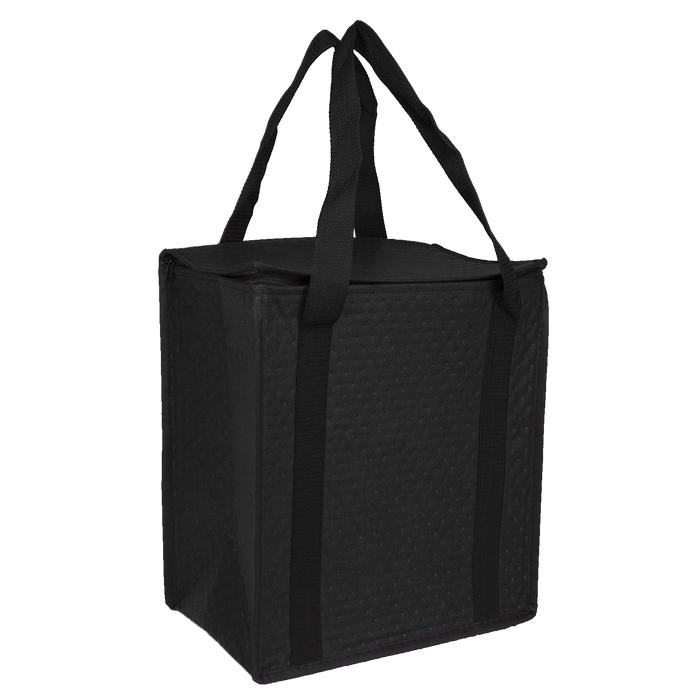 Black Square Top Insulated Tote