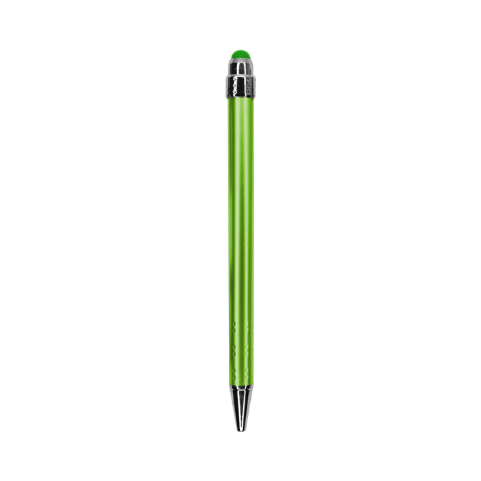 Lime Green with Blue Ink Chrome Stylus Pen