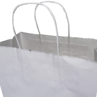 Small White Paper Shopper Bag Thumb