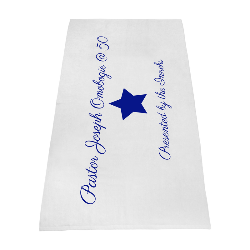 Pastor Joe Omobogie / Value Line White Beach Towel