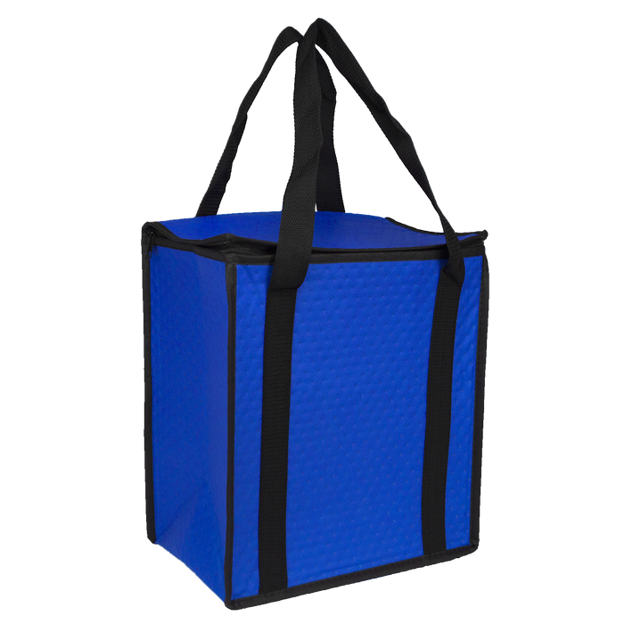 Royal Blue Square Top Insulated Tote