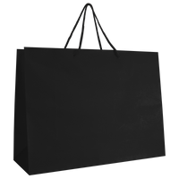 Black Large Matte Shopper Bag Thumb