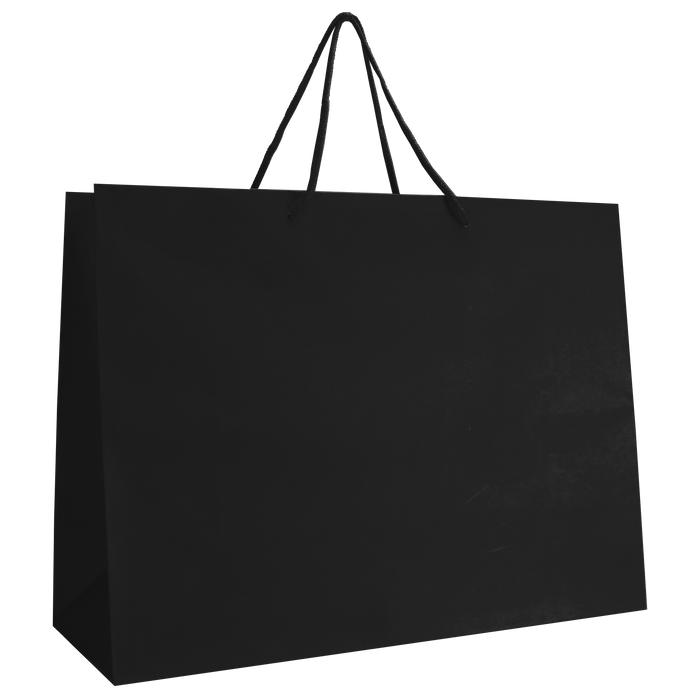 Black Large Matte Shopper Bag