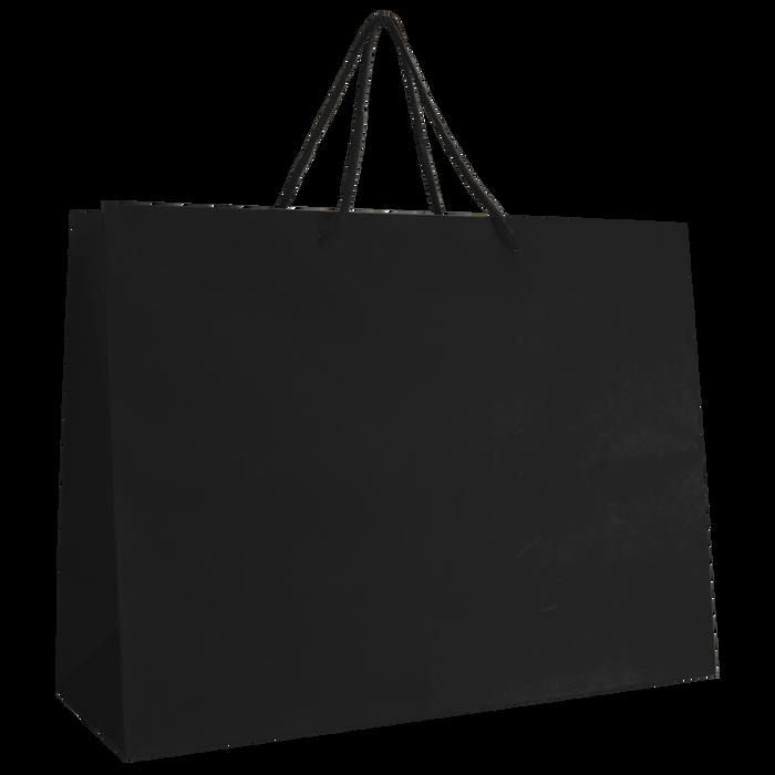 Black Large Matte Shopper Bag