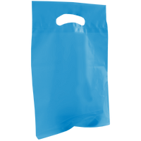 Blue Small Recyclable Die Cut Plastic Bag Thumb