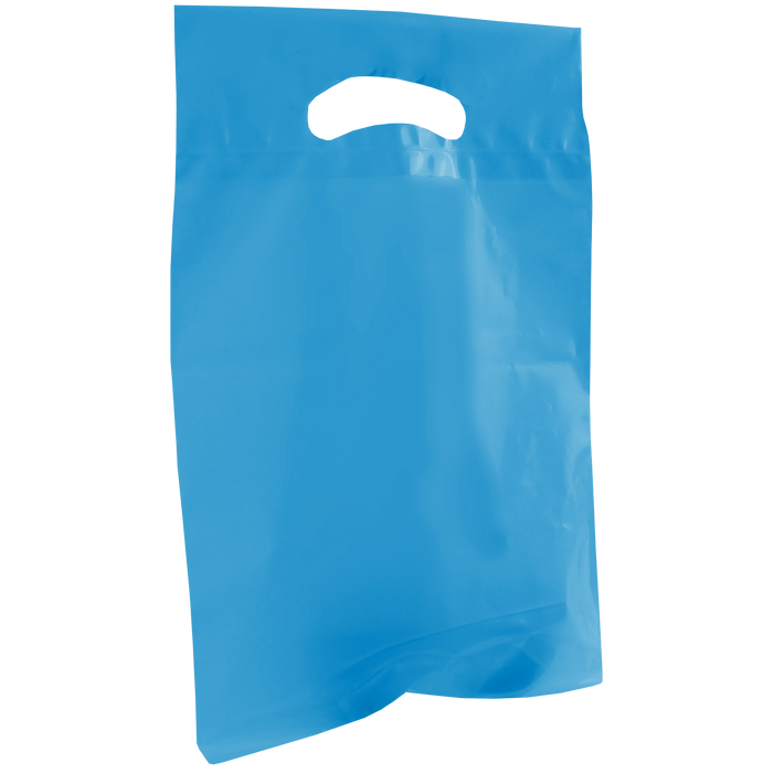 Blue Small Recyclable Die Cut Plastic Bag