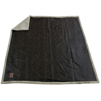 Rustic Faux Leather Throw