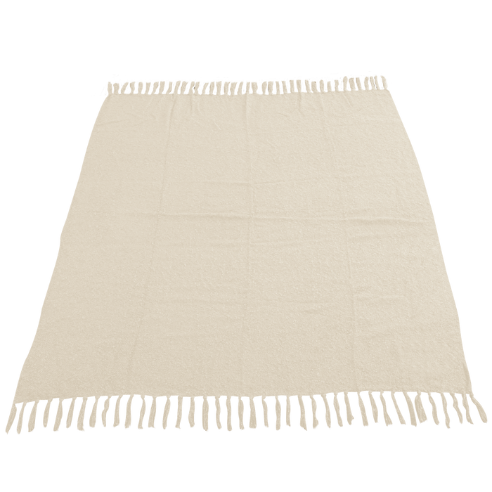 Vanilla (20472) Fringed Woven Throw Blanket