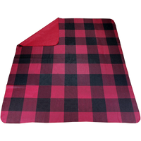 Red Plaid Full Color Blanket Thumb