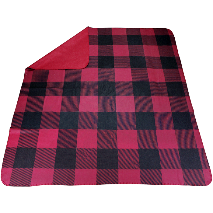 Red Plaid Full Color Blanket