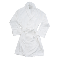 White Classic Turkish Cotton Robe Thumb