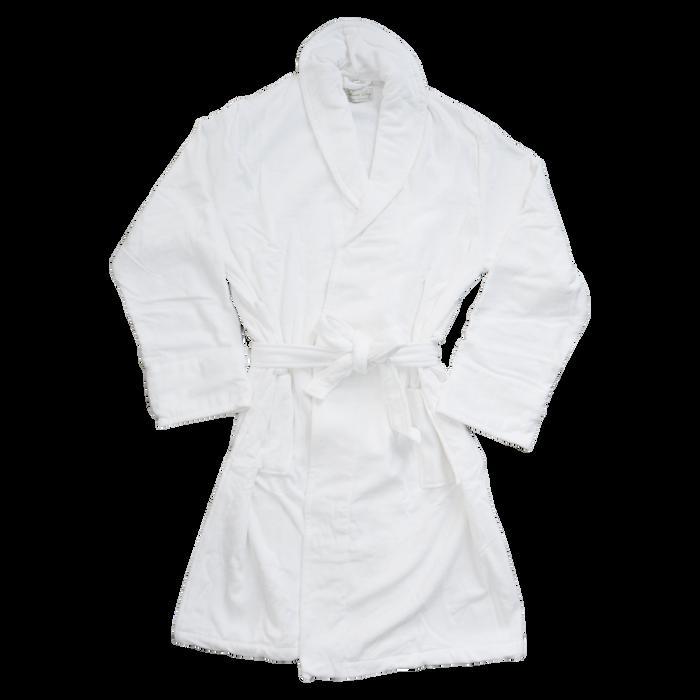 White Classic Turkish Cotton Robe