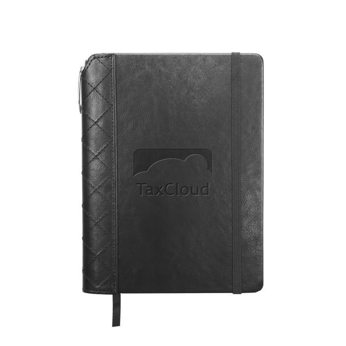 Quilted Faux Leather Journal with Pen