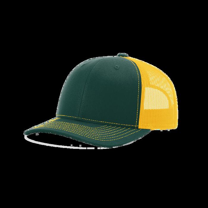 Dark Green/Gold Richardson Trucker Snapback Hat