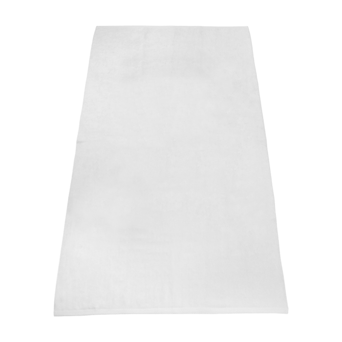 White Budget White Beach Towel