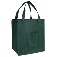 Hunter Green Insulated Tote with Pocket Thumb