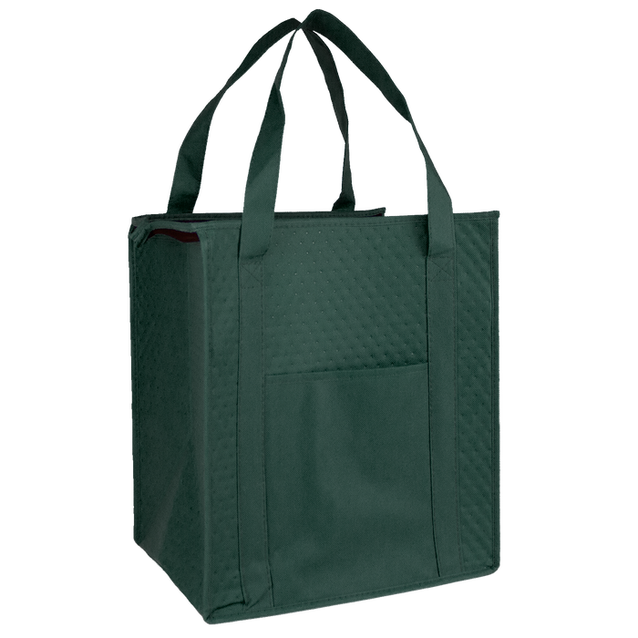 Hunter Green Insulated Cooler Tote with Pocket