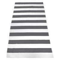 Grey Santa Maria Striped Beach Towel Thumb