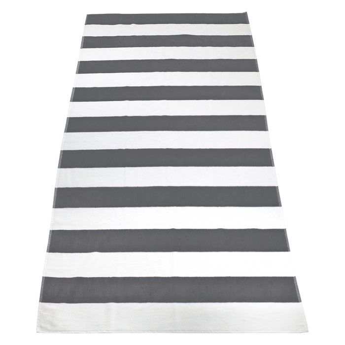 Grey Santa Maria Striped Beach Towel