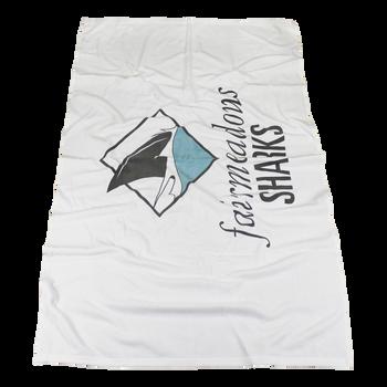 Medium Weight American Made White Beach Towel