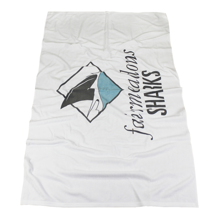 Medium Weight American Made White Beach Towel