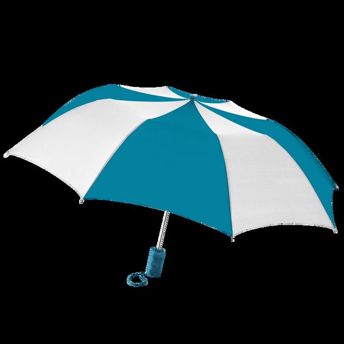 Teal/White Classic Umbrella
