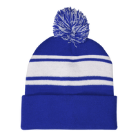 Royal Blue Striped Winter Beanie Thumb