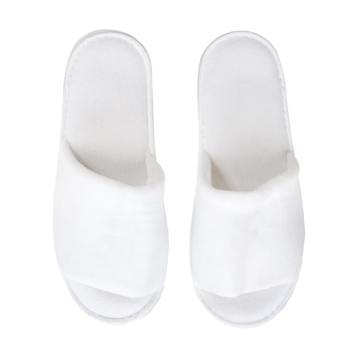 White Classic Velour Slippers