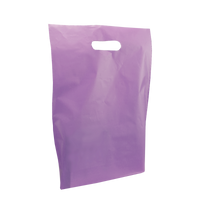 Lavender Medium Frosted Die Cut Bag Thumb